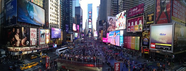 11 screens of Flickr in Times Square. Amazing. Can you spot them all?