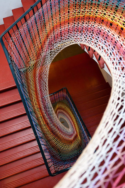 string art stairs
