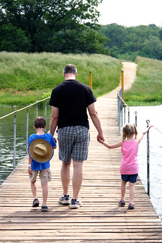 Creek_Brian-and-Kids-on-shell-bridge