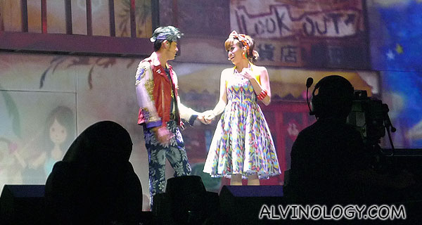 A little musical drama during the concert