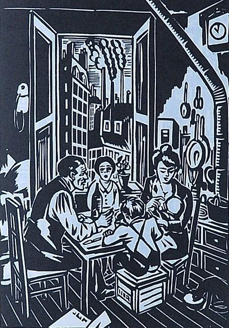 Bois gravé La Ville de Frans Masereel publié chez Cent pages Cosaques en 2011