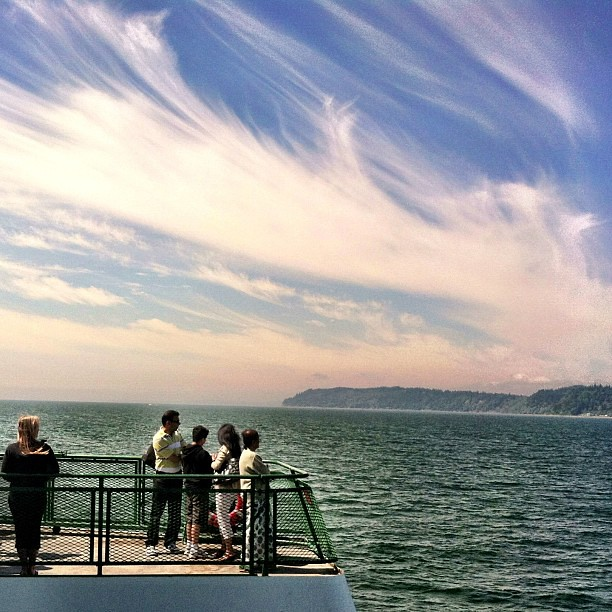 Aboard the Whidbey Island Ferry. #mozcon #seattle