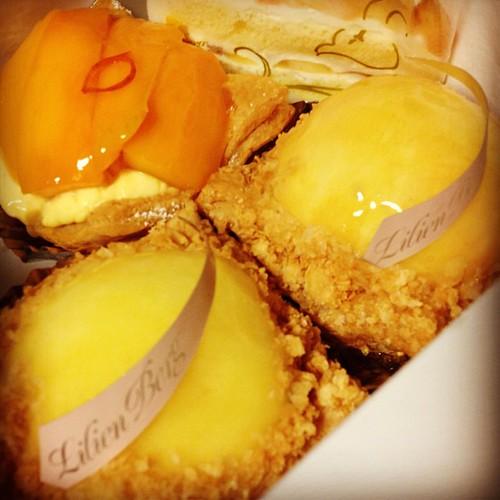 リリエンベルグの桃のパイ。