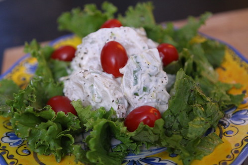 Kohlrabi with Sour Cream and Scallions with Tropicana Lettuce Salad