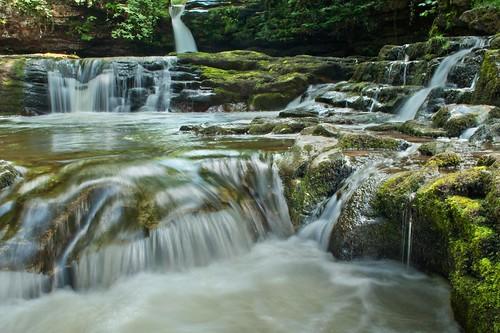 water wales waterfall breconbeacons