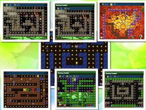 Hacking Pacman collage