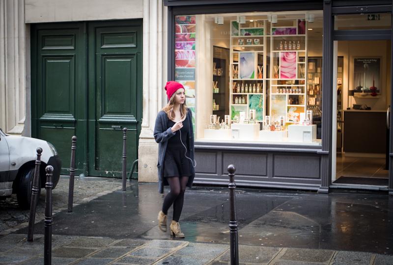 Paris, Girl Walking in Marais