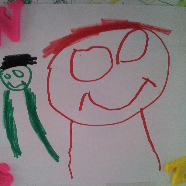Ironman and the Hulk, by Brayden.