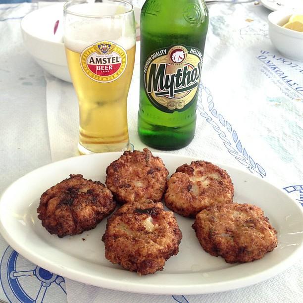Ahtapot kofte deniz ürünleri tadımı