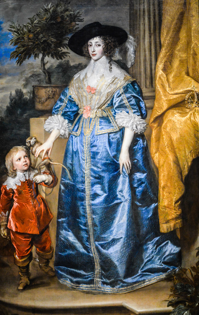 Anthony van Dyck - Queen Henrietta Maria with Sir Jeffrey Hudson, 1633 at National Art Gallery Washington DC
