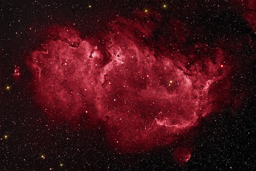 The Soul Nebula Mosaic - Ha false colour by Mick Hyde