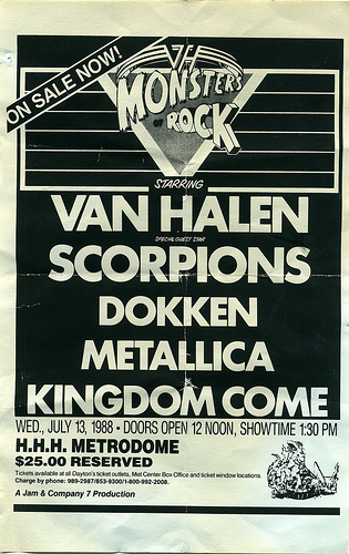 07-13-88 Van Halen Monsters Of Rock @ HHH Metrodome, Minneapolis, MN