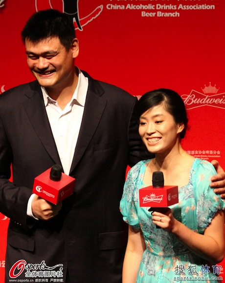 August 25th, 2013 - Yao Ming attends a short film premiere that stars him and his wife Ye Li