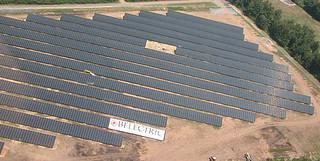 Pocono solar array, green innitiative