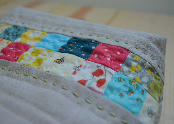Zipper Pouch - Patchwork Detail