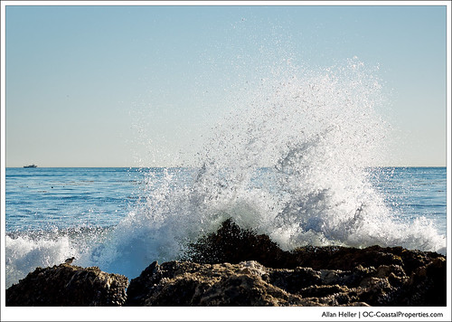 Ocean spray from the Corona del Mar surf