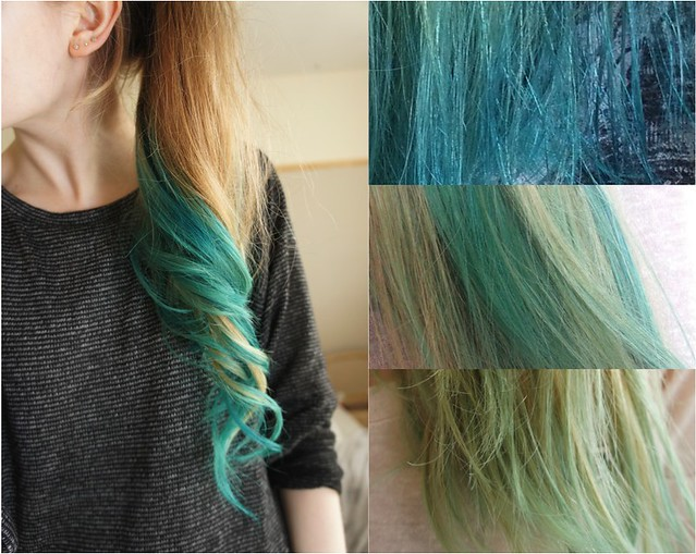 turquoise hair crazy color peacock blue directions alpine green