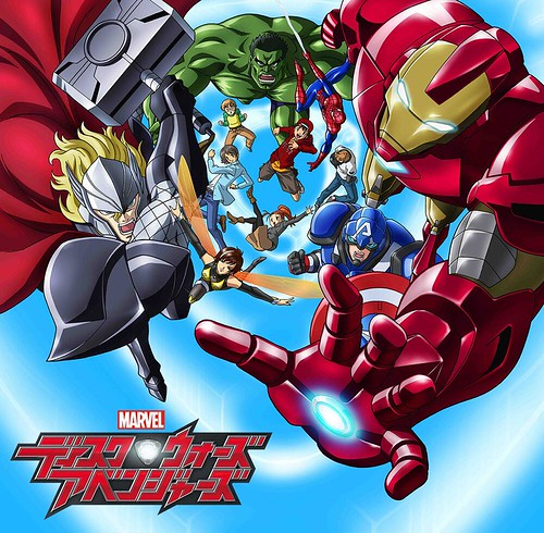 131024(3) - 東映動畫版《ディスク・ウォーズ:アベンジャーズ》(漫威碟戰:復仇者聯盟)2014年春天首播!附贈《美國隊長2:酷寒戰士》(Captain America The Winter Soldier)16秒預告片! 1