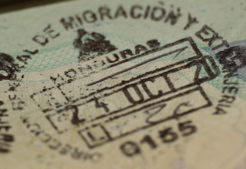 Honduras Passport Stamp