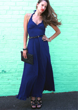 navy maxi ress day to night