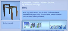Babylon's Garden Trellised Arches by Modern Arcology