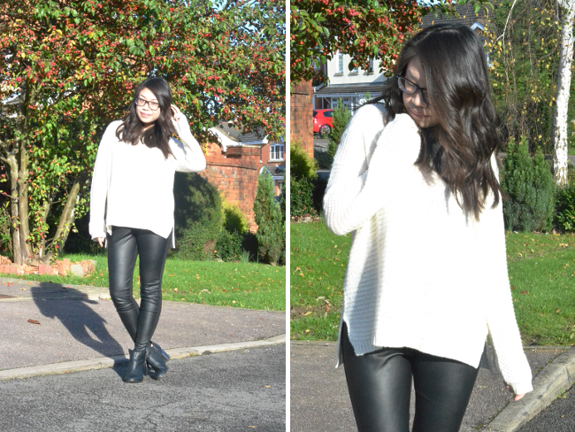 Daisybutter - UK Style and Fashion Blog: what i wore, leather trousers, ootd, h&m, winter outfits