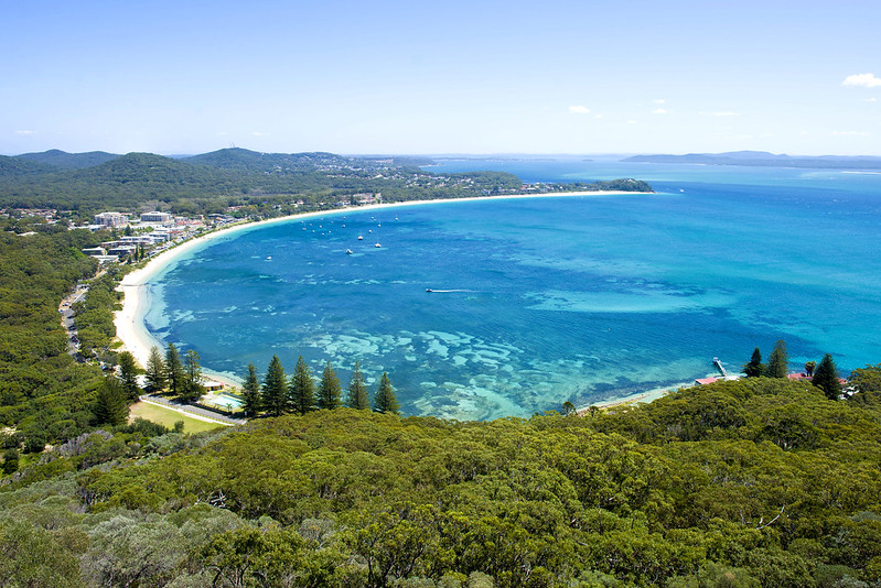 Tomaree Head lookout view Port Stephens
