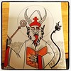 Almost completed commission. Krampus as Saint Nicholas. #krampus #art #witchipoo