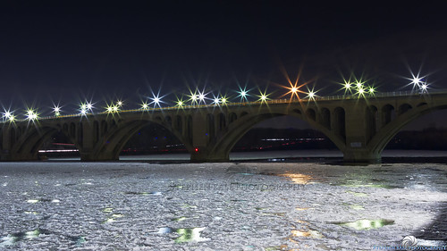 street longexposure bridge reflection ice water night canon river photography lights washingtondc frozen photo dc washington districtofcolumbia shot streetlights top unique great georgetown best explore citylights potomac 5d prize nightsky premier digitalphotography keybridge georgetownwaterfront canon24105mm stephenball 5dmarkiii stephenballphotography