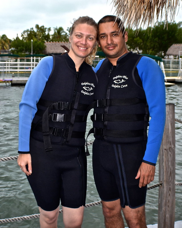 Swimming with Dolphins - Key Largo, Florida - wet suits