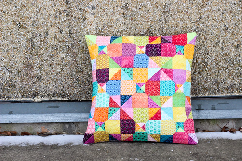 Mystery Quilted Pillow Pattern by Jeni Baker