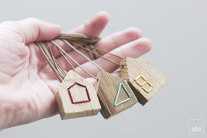 wood house necklace 1