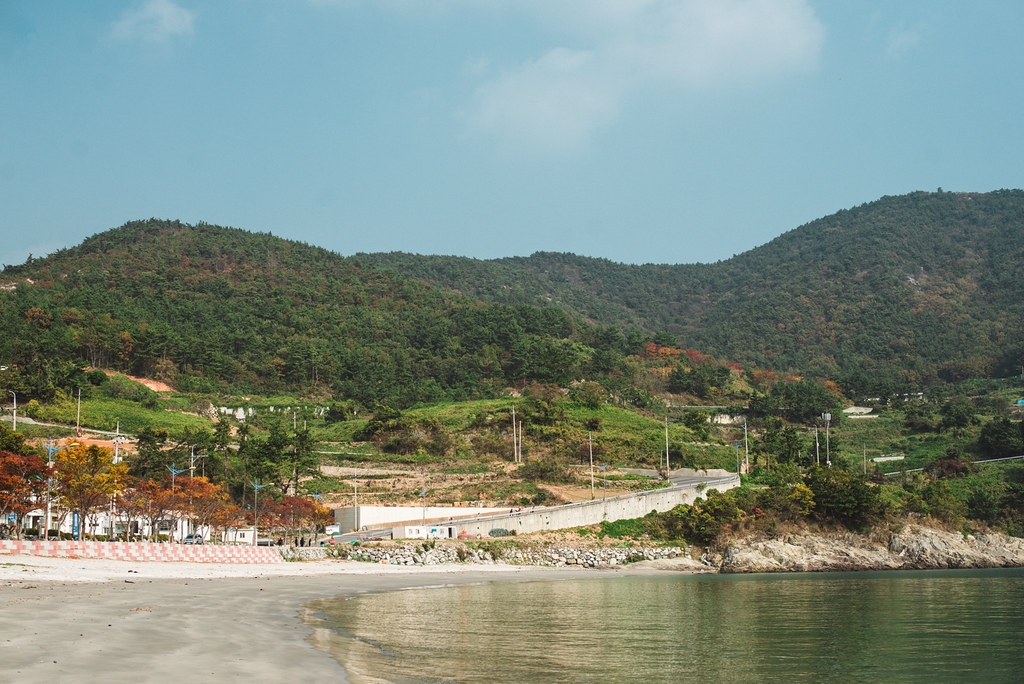 Empty beach in Namhae