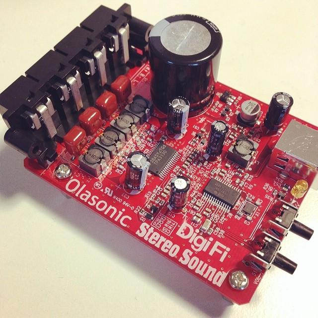 噂の新型来ました。DigiFi付録USBオーディオ、Olasonic製。これからモニターします。