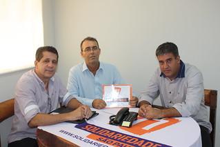 Sidney da Silva, vereador de Itaí, visita o Solidariedade-SP