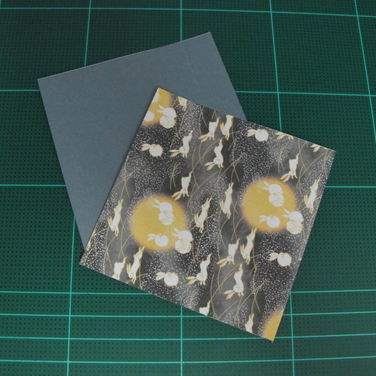 วิธีพับกระดาษเป็นรูปลูกสุนัข (แบบใช้กระดาษสองแผ่น) (Origami Dog) 001