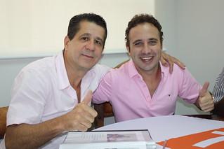 David Martins e Hernrique do Paraíso, pré-candidato do Solidariedade a deputado federal