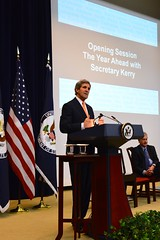 U.S. Secretary of State John Kerry delivers opening remarks at the Global Chiefs of Mission Conference at the U.S. Department of State in Washington, D.C., on March 10, 2014. [State Department photo/ Public Domain]