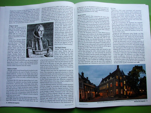 My article in Dutch the Magazine