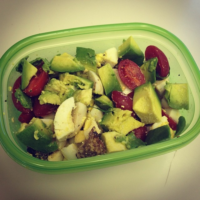 I think I need to blog about The Breakfast Salad because it is rocking my world so hard lately.