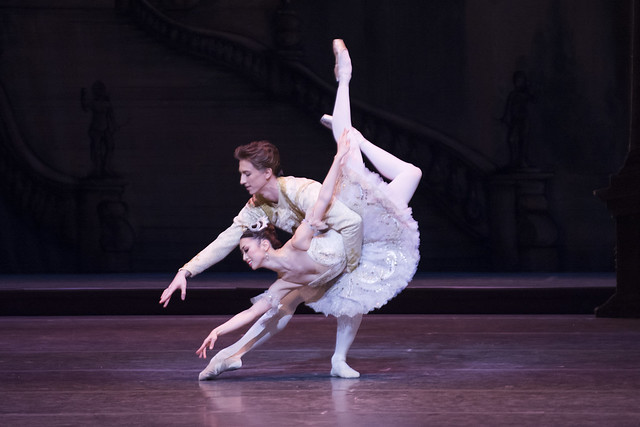 Vadim Muntagirov's Royal Ballet debut as Prince Florimund, with Akane Takada as Aurora in The Sleeping Beauty, The Royal Ballet © ROH / Tristram Kenton 2014