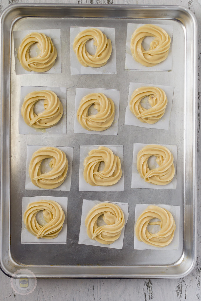 French Honey Crullers Butter Dough Piped