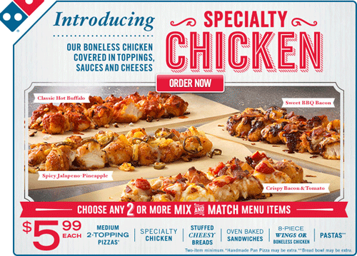 Domino's Specialty Chicken {Review}