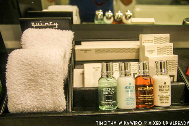 Asia - Singapore - Quincy Hotel - The bathroom - Toiletries from Molton Brown