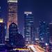Nightscape of Shanghai city