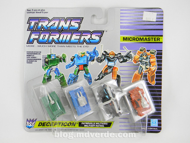 Transformers Micromaster Military Patrol (Bombshock, Tracer, Dropshot, Growl) - Transformers G1 Micromasters - caja