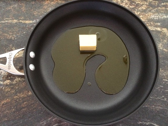 Olive Oil and Butter in Saute Pan