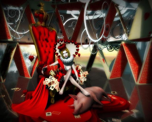 queen of hearts & pigs