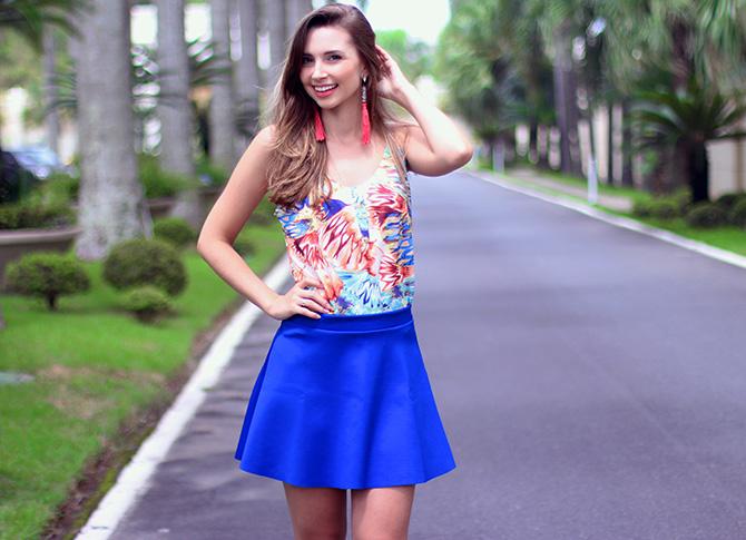 4-look com saia azul bic lamandinne blog sempre glamour
