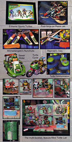 "LEE'S TOY REVIEW #xx, pg. 32 / ""TOY FAIR 2003 DECLASSIFIED"", TMNT - 2k3 Waves 2 peek; ROLEPLAY, vehicles, Lair Playset (( xx, 2003 ))"